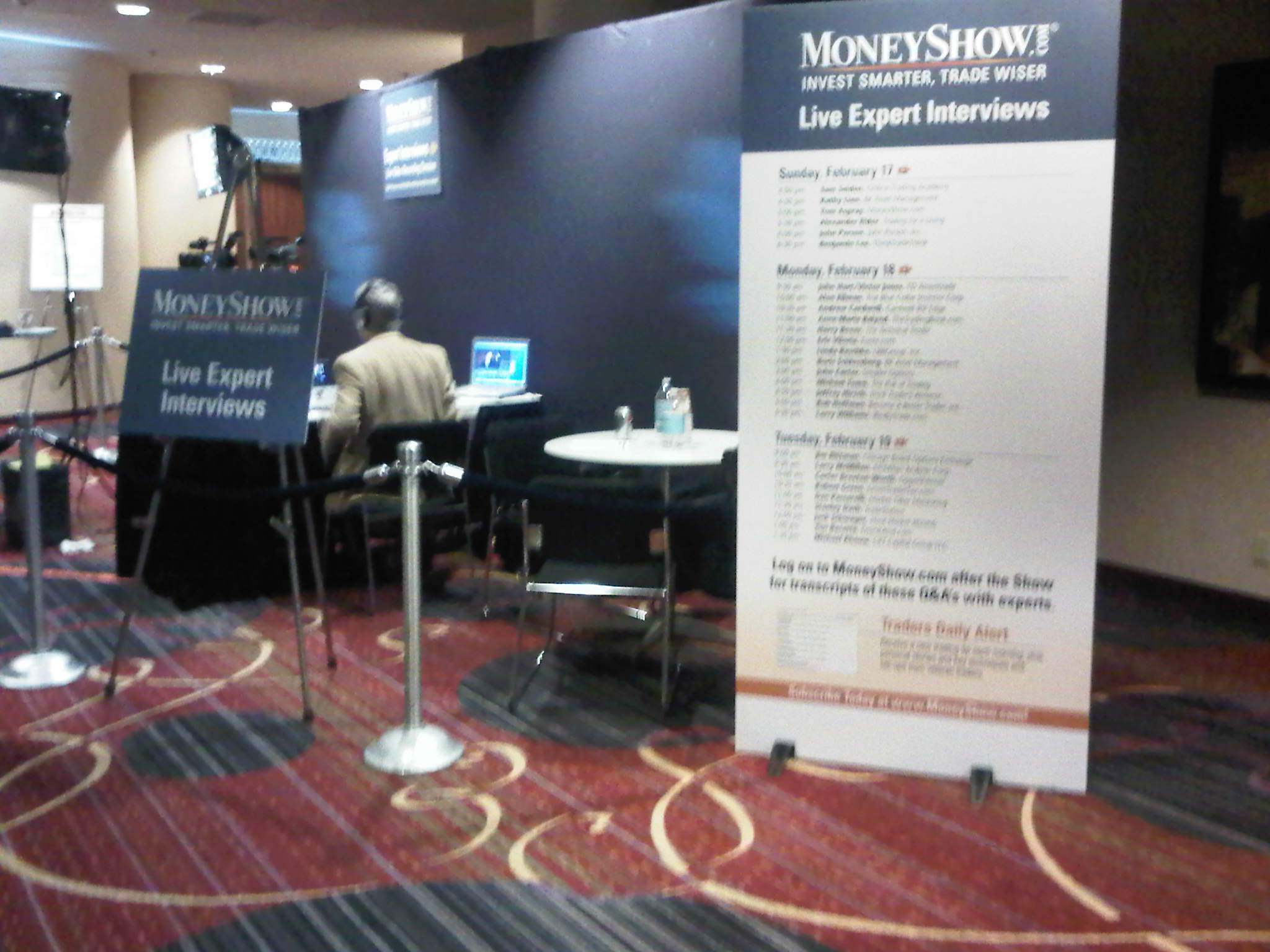 MoneyShow Interview Booth