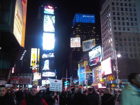 Time Square NY Evening
