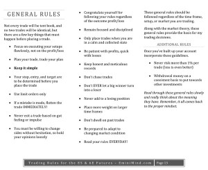 Trading Rules for the ES & 6E Futures