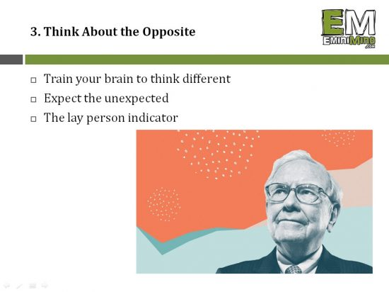 3 - Think About the Opposite
